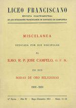 Miscelanea a Ilmo. R.P. José Campelo, O.F.M. en sus bodas de oro religiosas