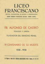 Fr. Alonso de Castro, IV centenario de su muerte (1558-1958)