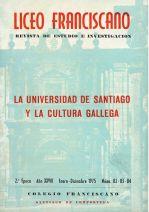 La Universidad de Santiago y la Cultura Gallega