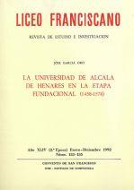 La Universidad de Alcalá de Henares en la etapa Fundacional (1458-1578)